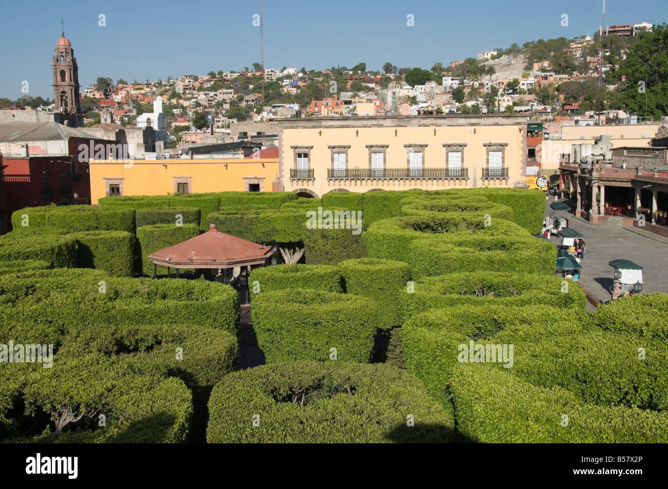 Jardin Principal, San Miguel de Allende (San Miguel), Guanajuato State, Mexico, North America - Stock Image