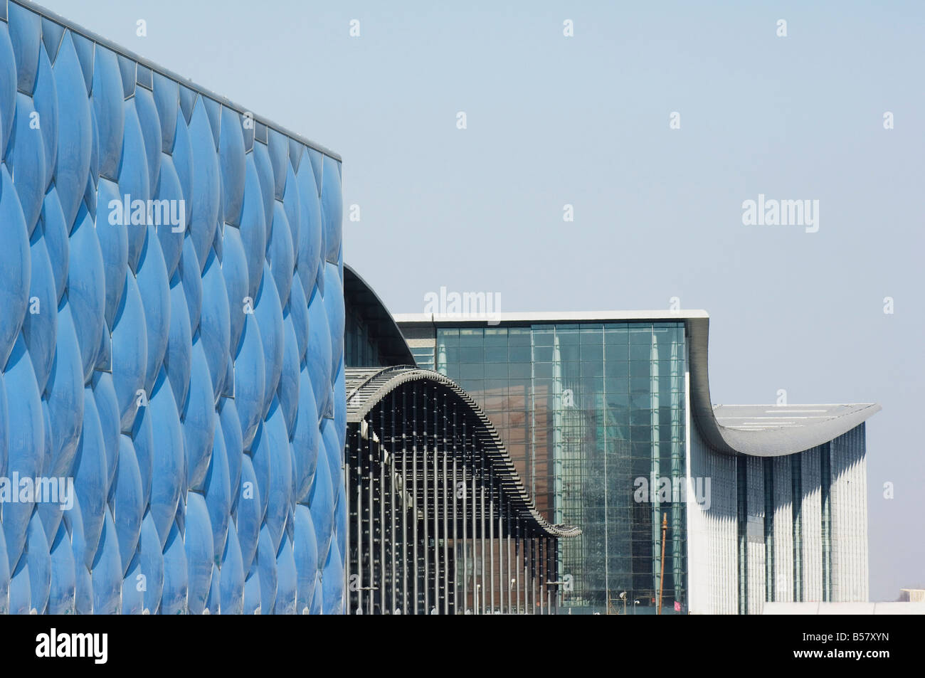 The Water Cube National Aquatics Center swimming arena in the Olympic Park, Beijing, China, Asia - Stock Image
