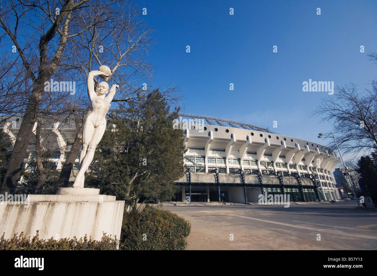 Workers Stadium Olympic venue, Sanlitun, Beijing, China, Asia - Stock Image