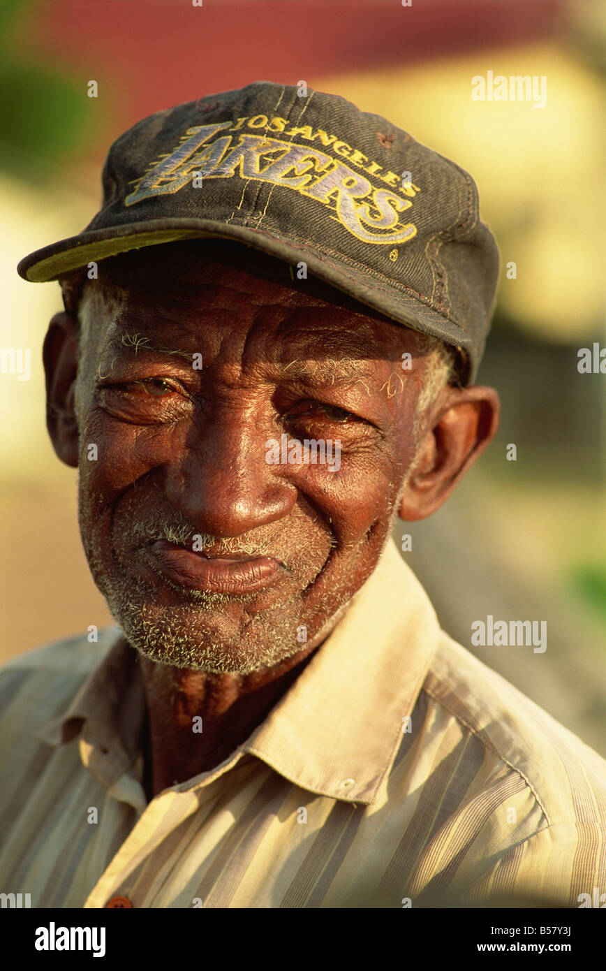 Old Creole man, Dangriga, Belize, Central America - Stock Image