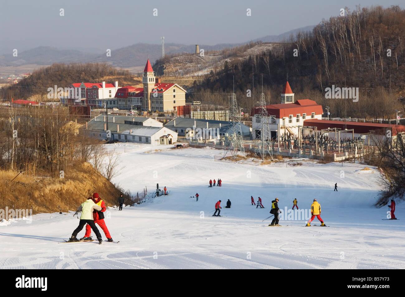 Yabuli ski resort, Heilongjiang Province, Northeast China, China, Asia - Stock Image