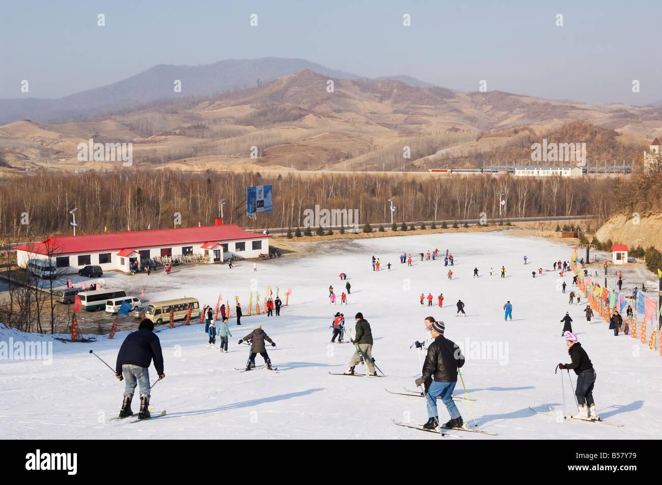 yabuli ski resort, heilongjiang province, northeast china, china
