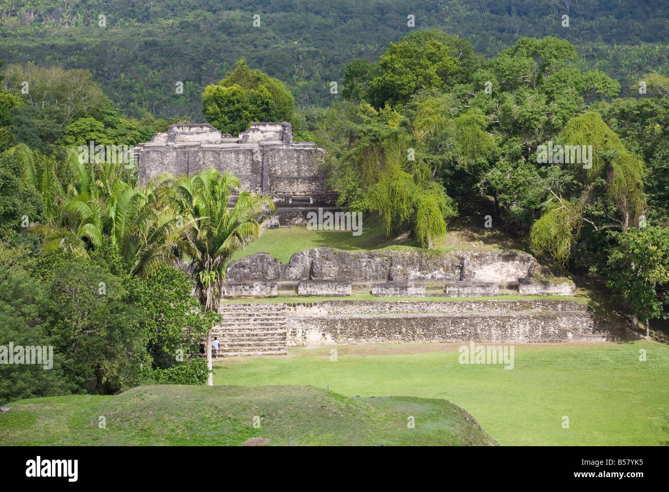 Mayan ruins, Xunantunich, San Ignacio, Belize, Central America - Stock Image