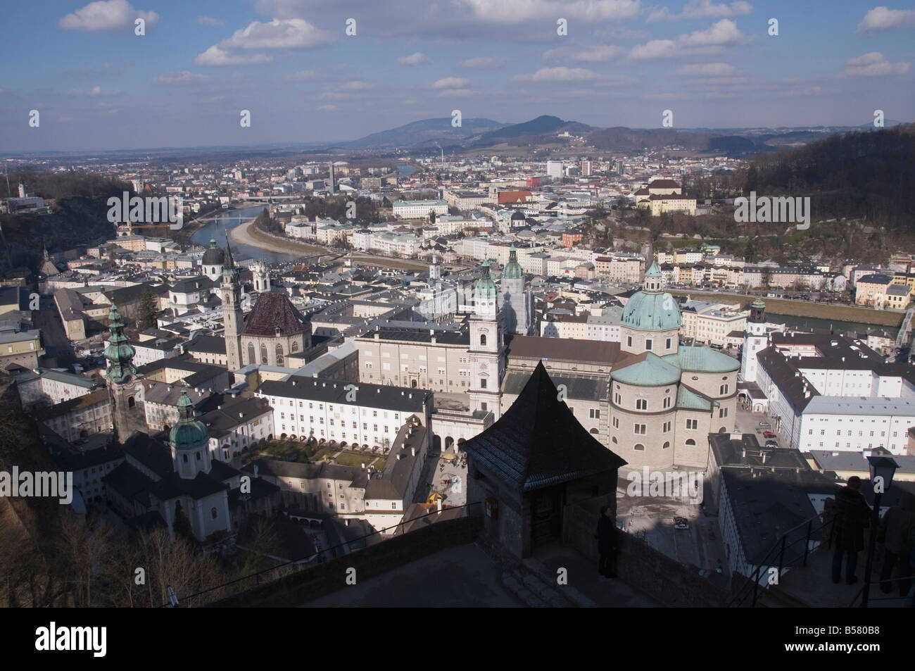 View from the Hohensalzburg Fortress, Salzburg, Austria, Europe - Stock Image