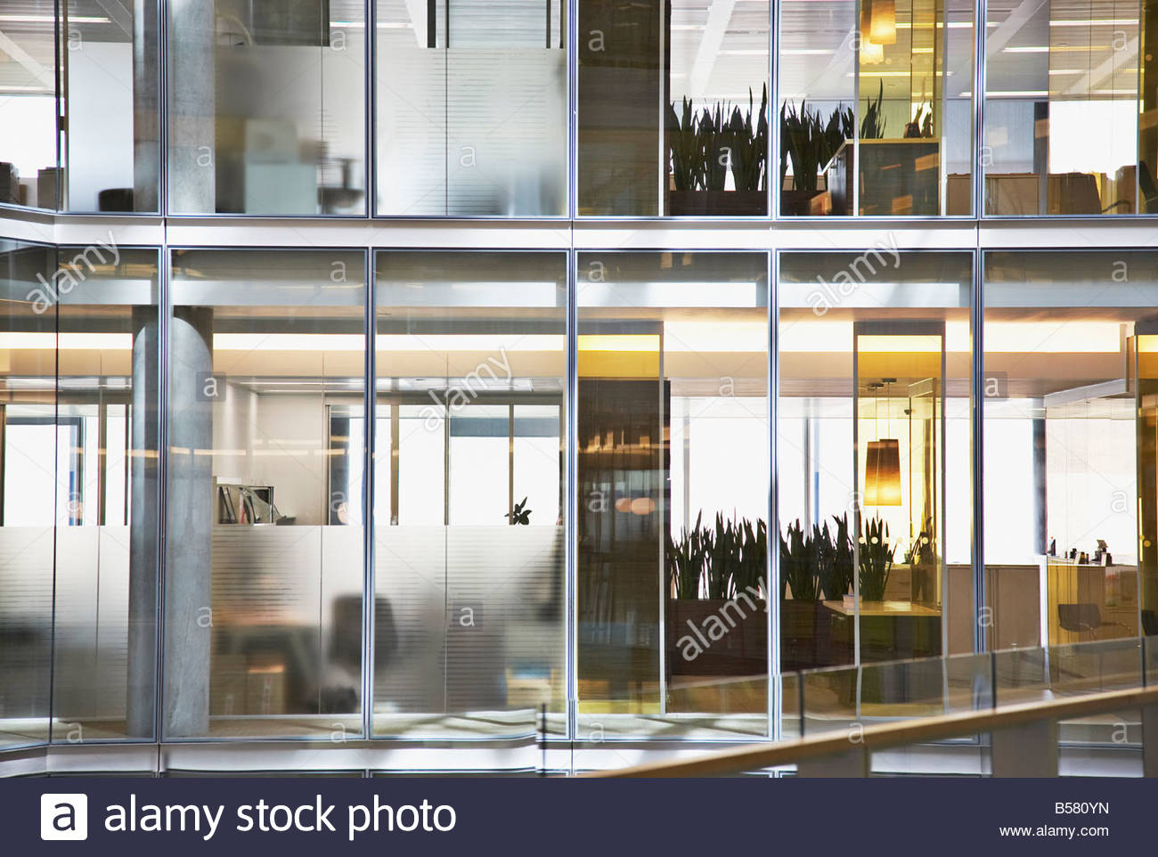 Office building after hours - Stock Image