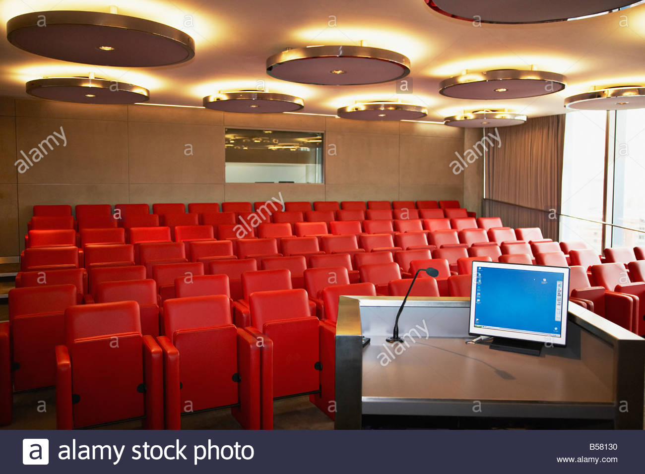 Corporate lecture hall - Stock Image