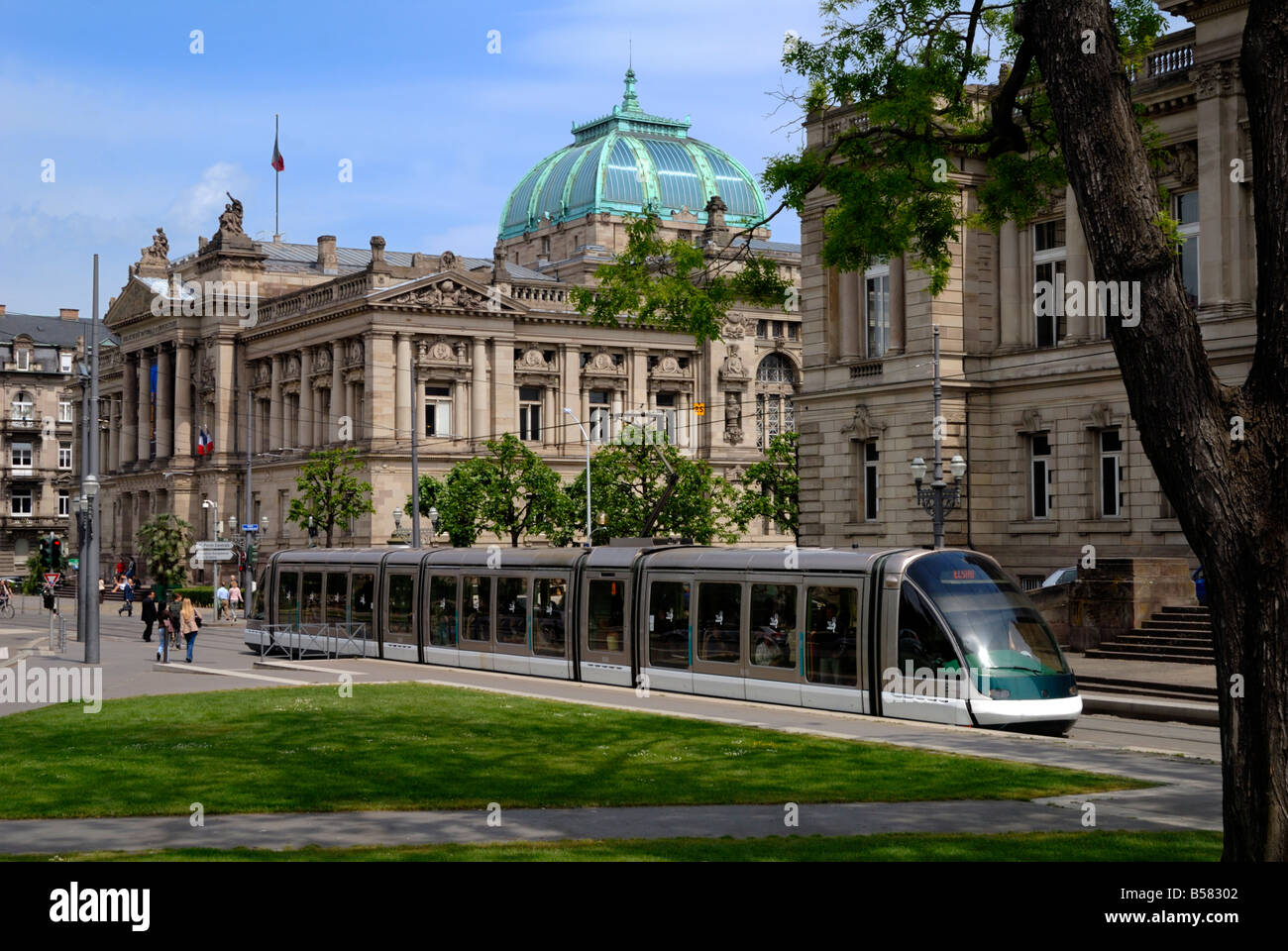 Bibliotheque Nationale et Universitaire (National University Library), Strasbourg, Alsace, France, Europe - Stock Image