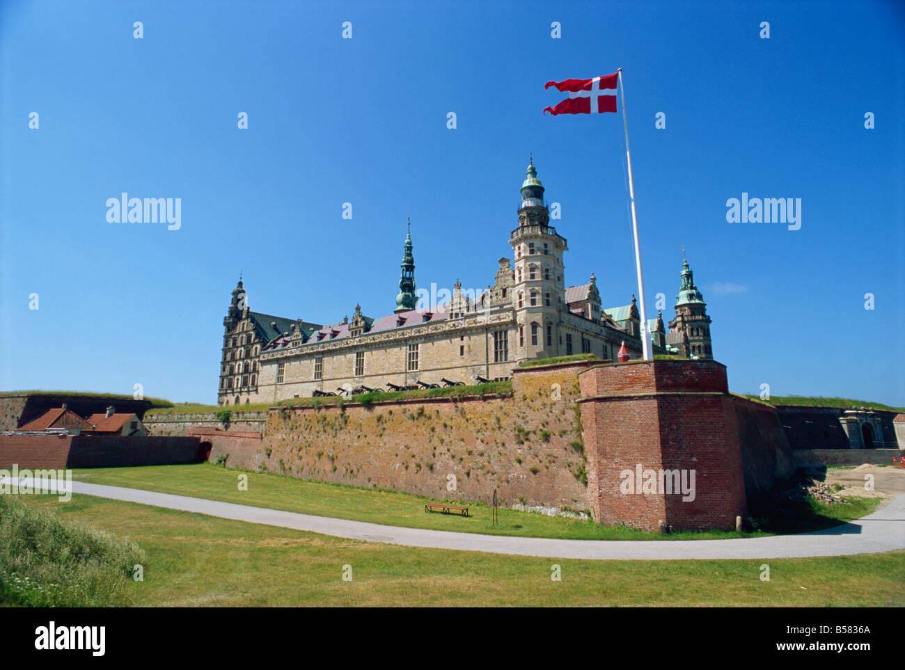 Kronborg Castle, Helsingor (Elsinore), Hamlet's castle, UNESCO World Heritage Site, Denmark, Scandinavia, Europe Stock Photo