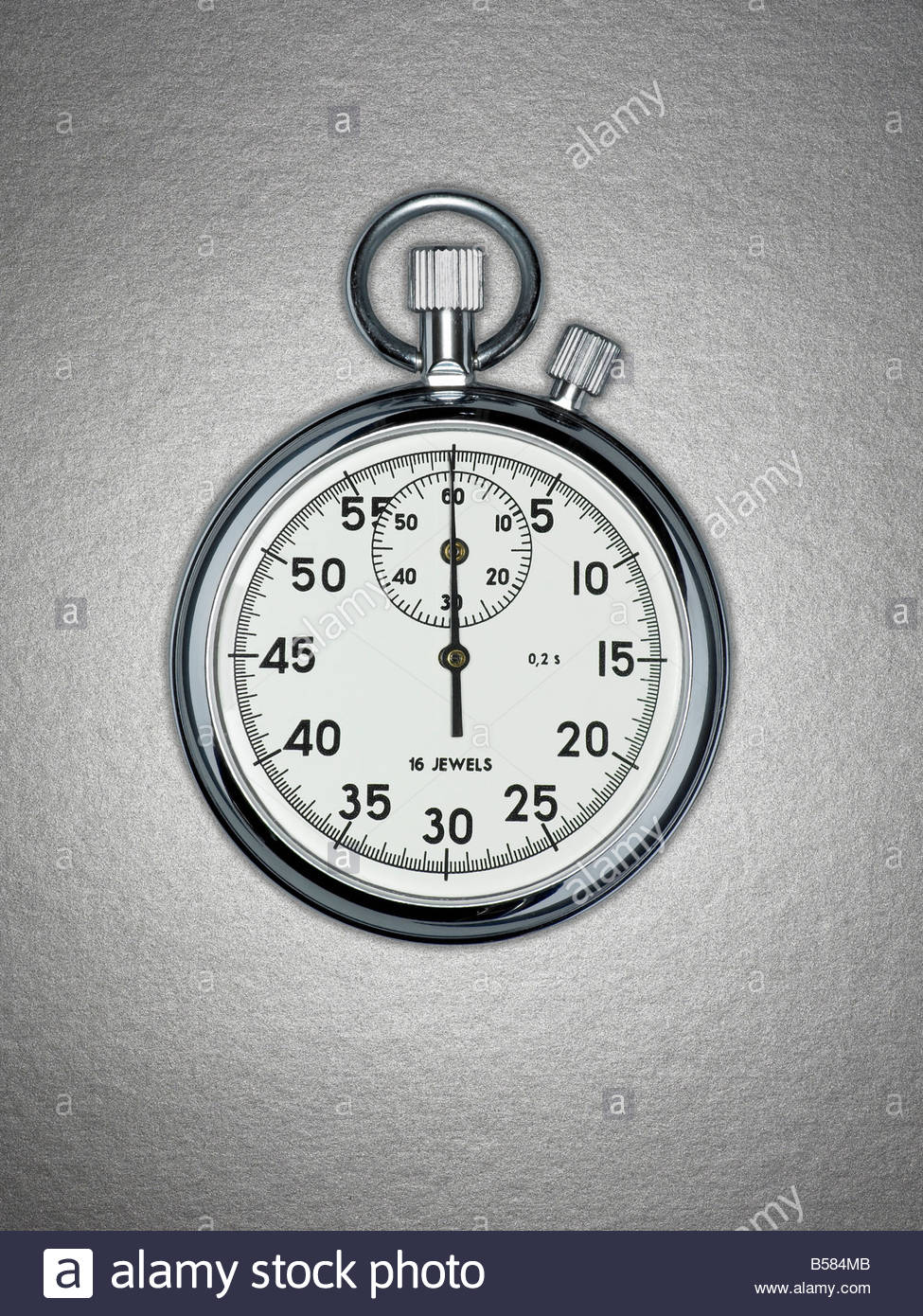 Close up of stopwatch - Stock Image