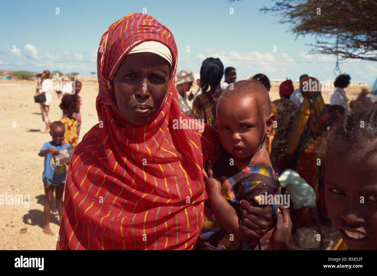 Woman with child Djibouti Africa Stock Photo