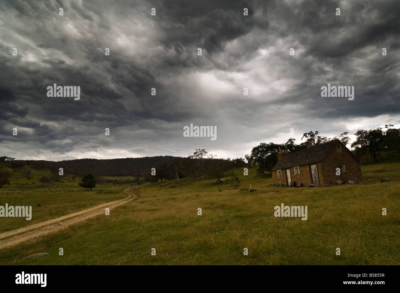 High Country hut, Jindabyne, New South Wales, Australia, Pacific - Stock Image