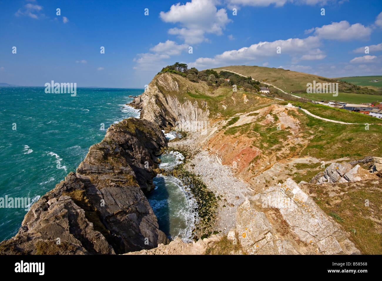 Stair Hole, Lulworth Cove, Dorset, England, United Kingdom, Europe - Stock Image