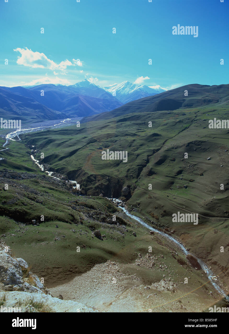 Caucus Mountains, Azerbaijan, Central Asia, Asia - Stock Image