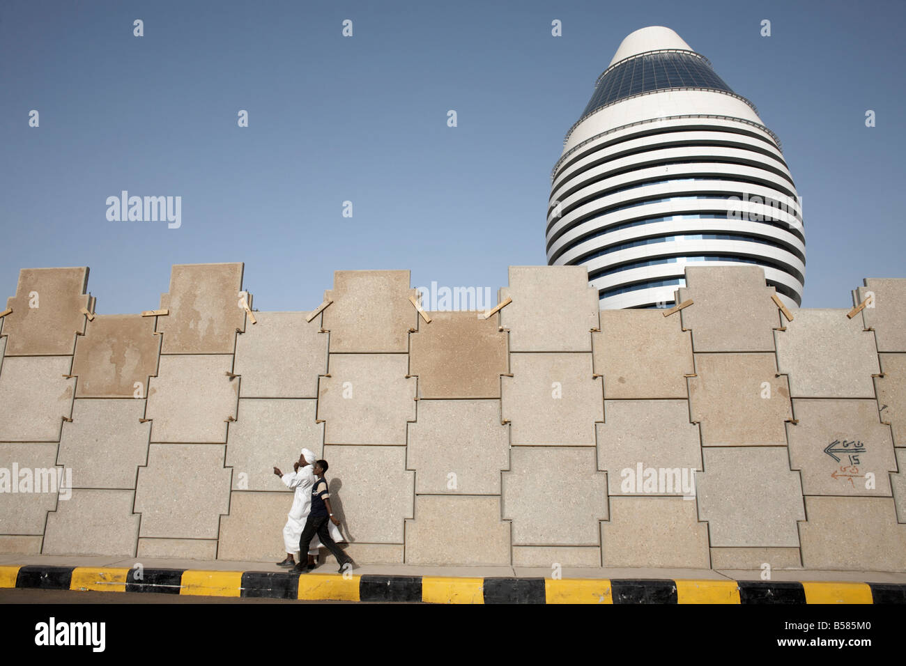 The 5-star Boji Al-Fateh Hotel, or Libyan Hotel, Khartoum, Sudan, Africa - Stock Image