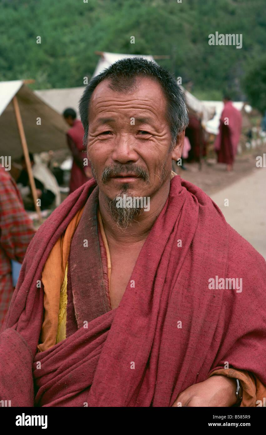 Monk Bhutan Asia - Stock Image