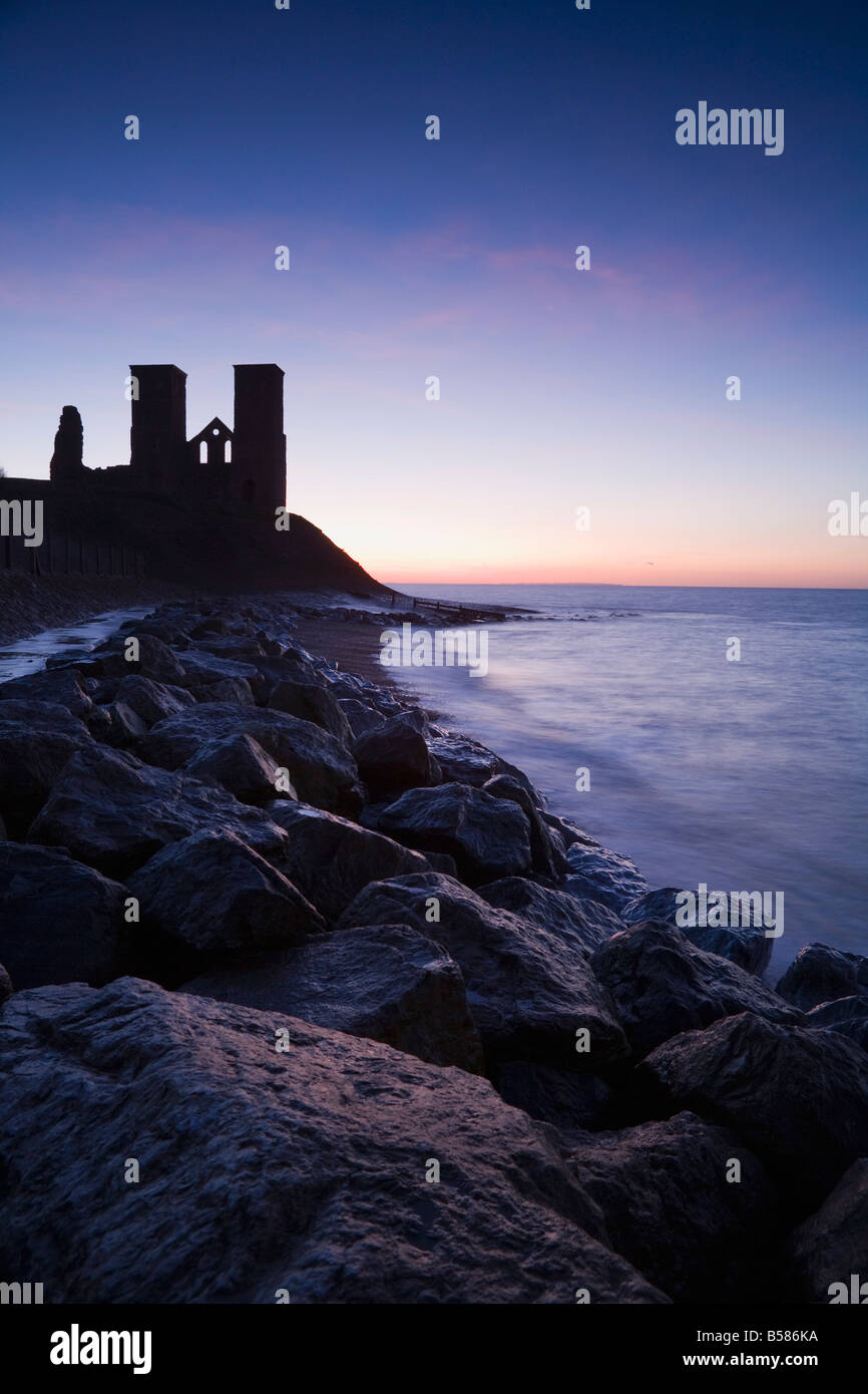 Reculver Towers, Kent, England, United Kingdom, Europe Stock Photo