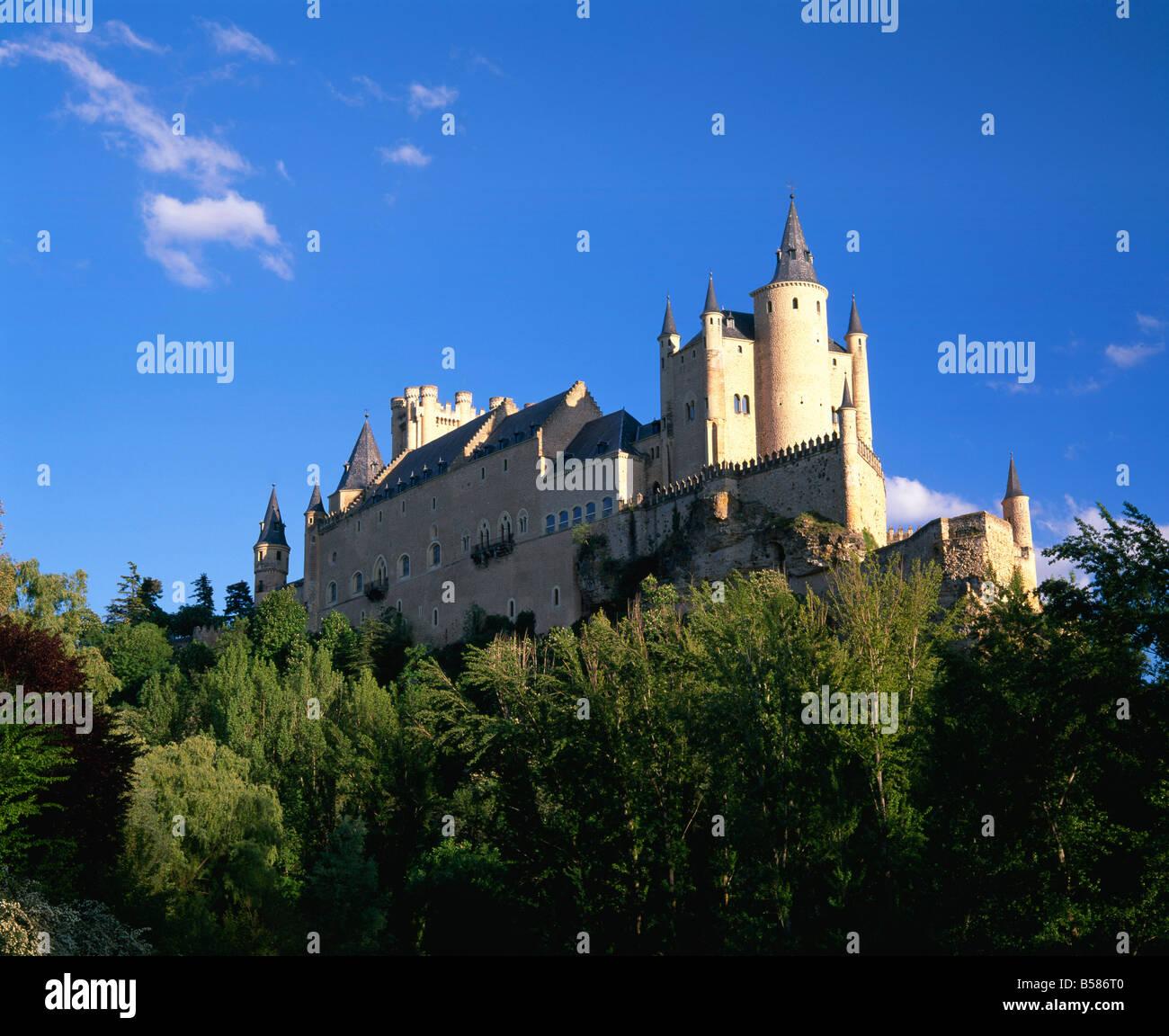 Alcazar, Segovia, Castilla y Leon (Old Castile), Spain, Europe - Stock Image