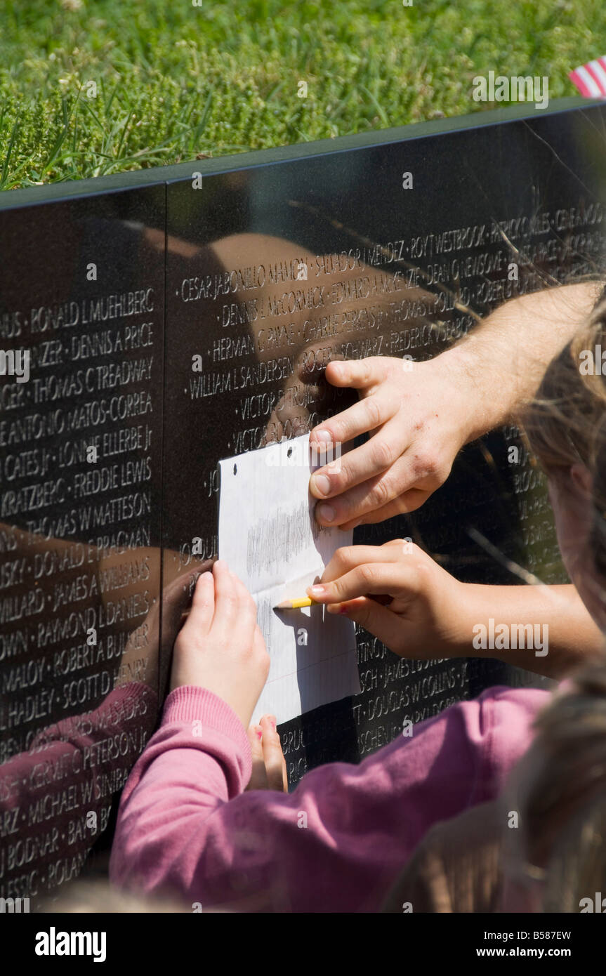 Vietnam Veterans Memorial Wall, Washington D.C. (District of Columbia), United States of America, North America - Stock Image