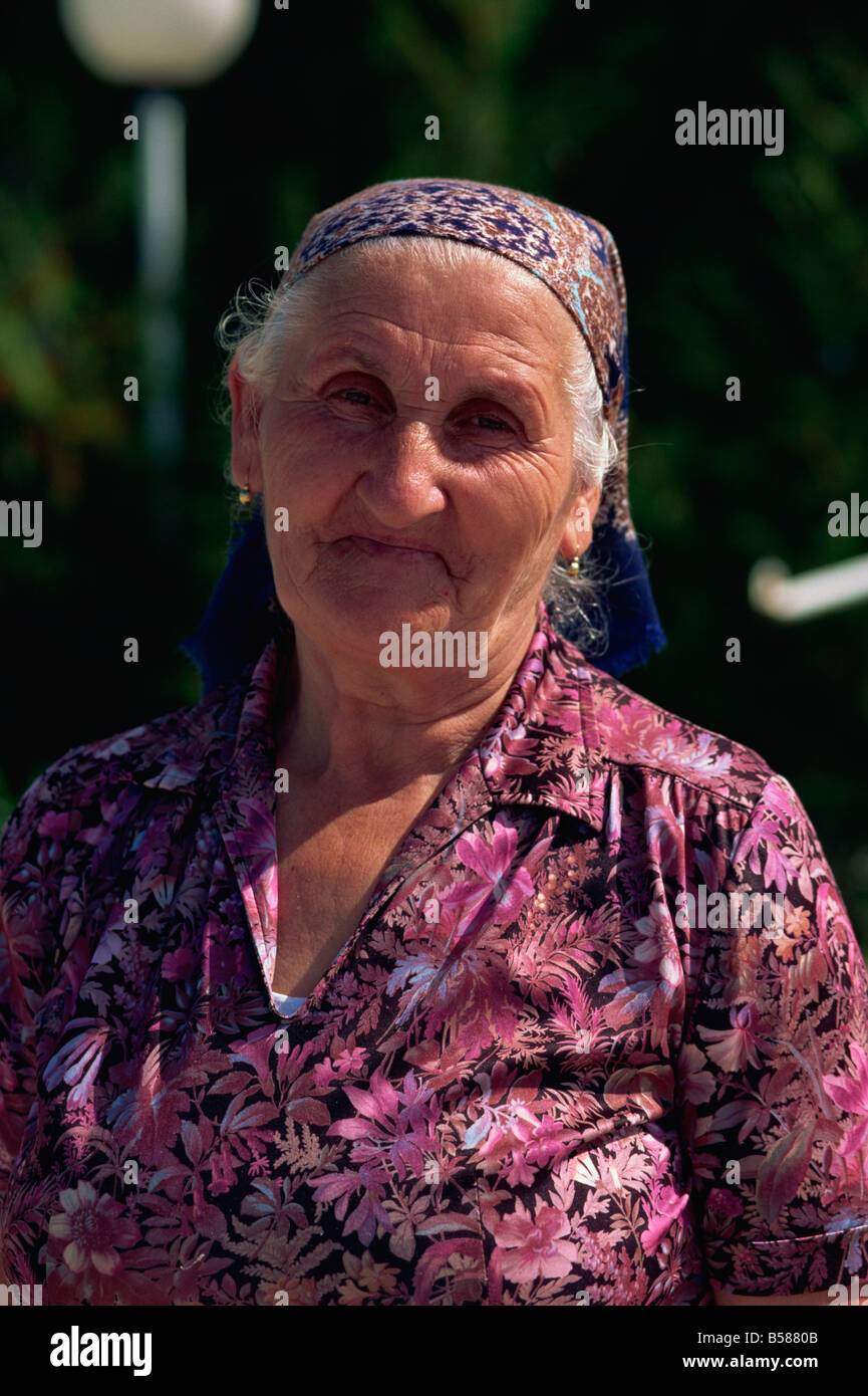 Croat peasant woman, Medjugorje, Bosnia Herzegovina, Europe - Stock Image
