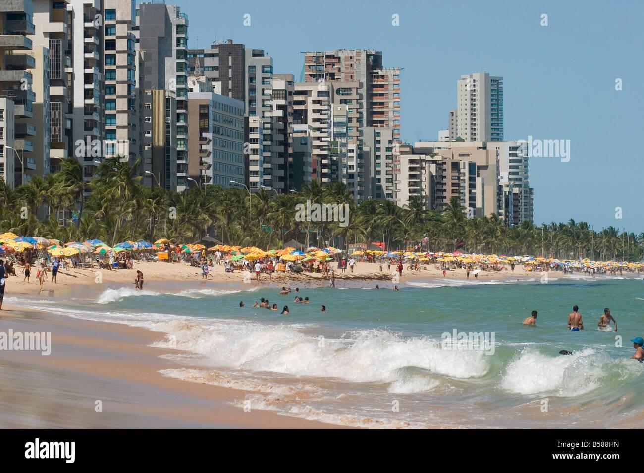 Boa Viagem beach Recife Pernambuco Brazil South America - Stock Image