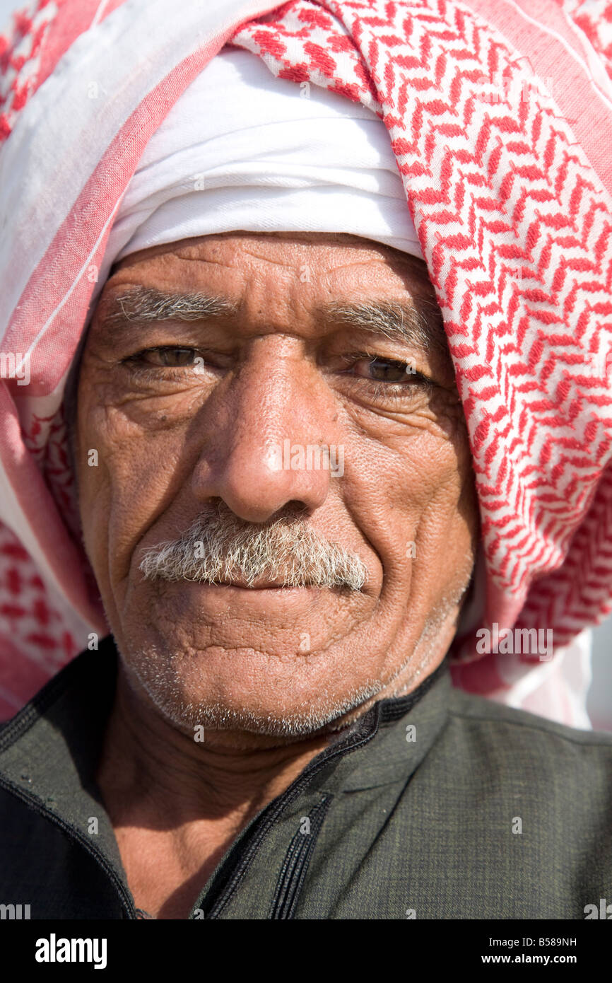 A face in Aswan market, Egypt, North Africa, Africa - Stock Image
