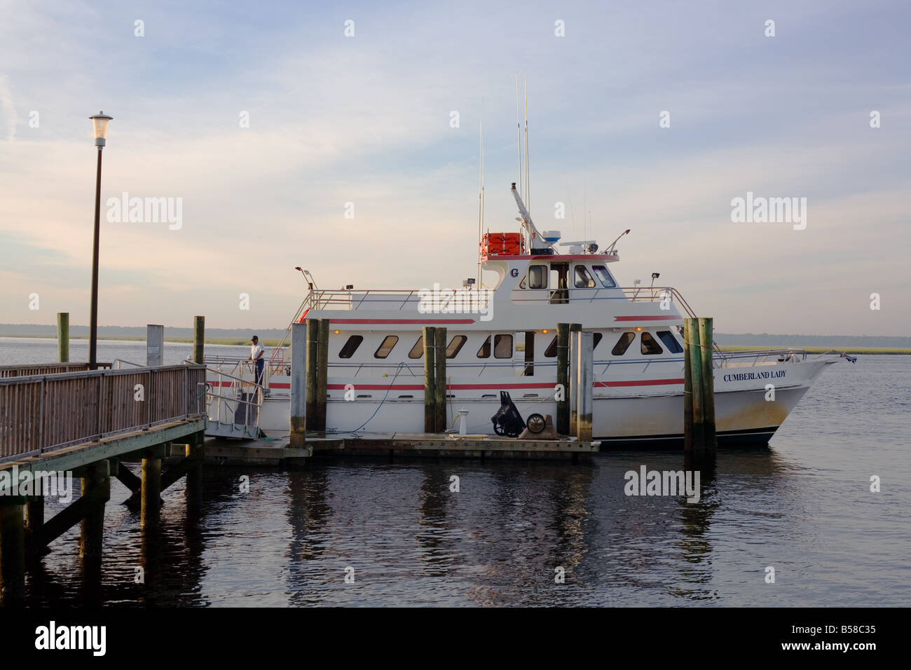 Cumberland Lady is the ferry that transports visitors to Cumberland Island National Seashore Stock Photo