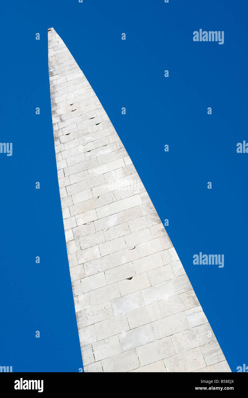 Spire at Maarjamäe War Memorial complex, Tallinn, Estonia.  The spire is a Russian memorial for those who died - Stock Image