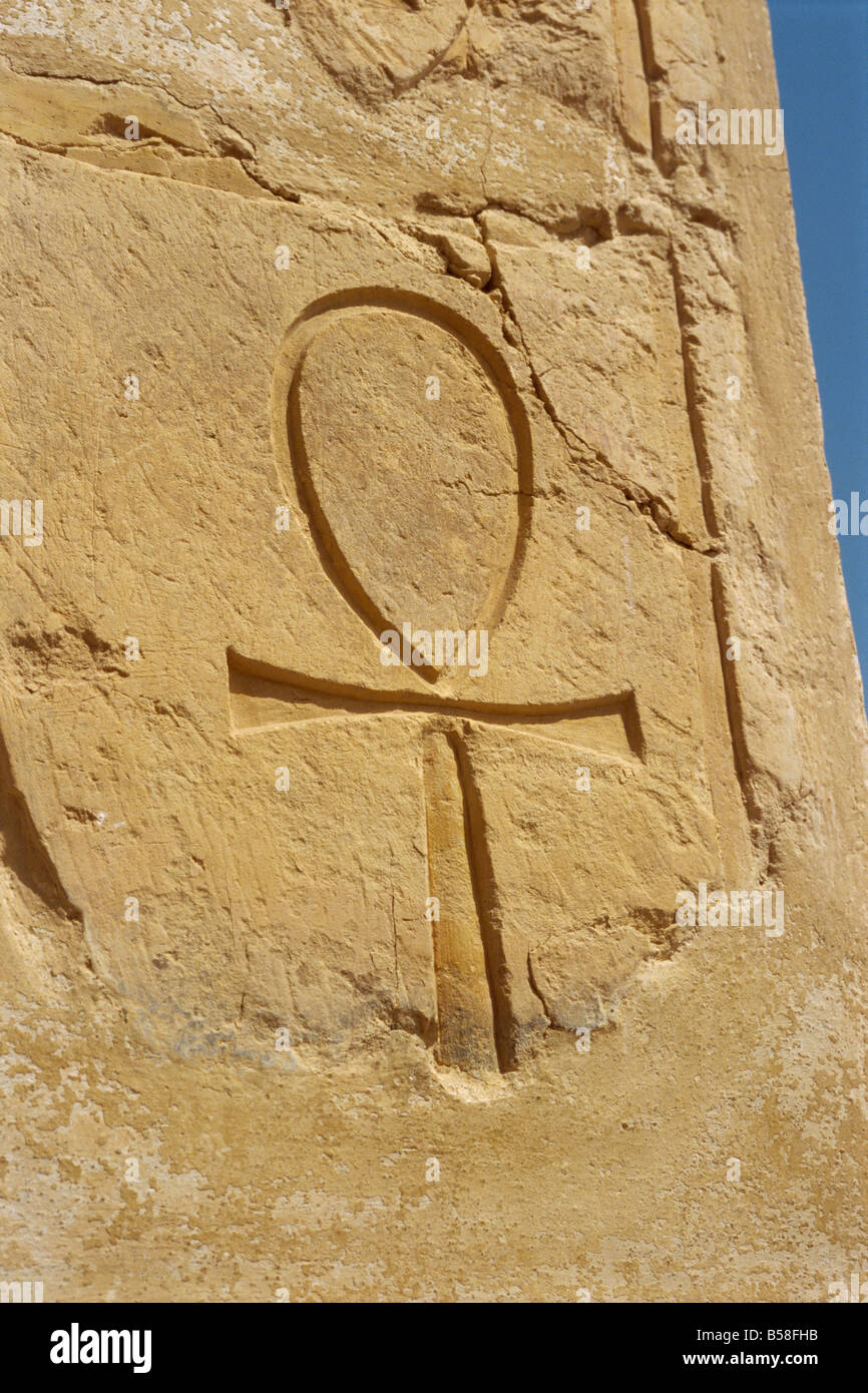 The Ankh Symbol Sign Of Life Mortuary Temple Of Queen Hatshepsut