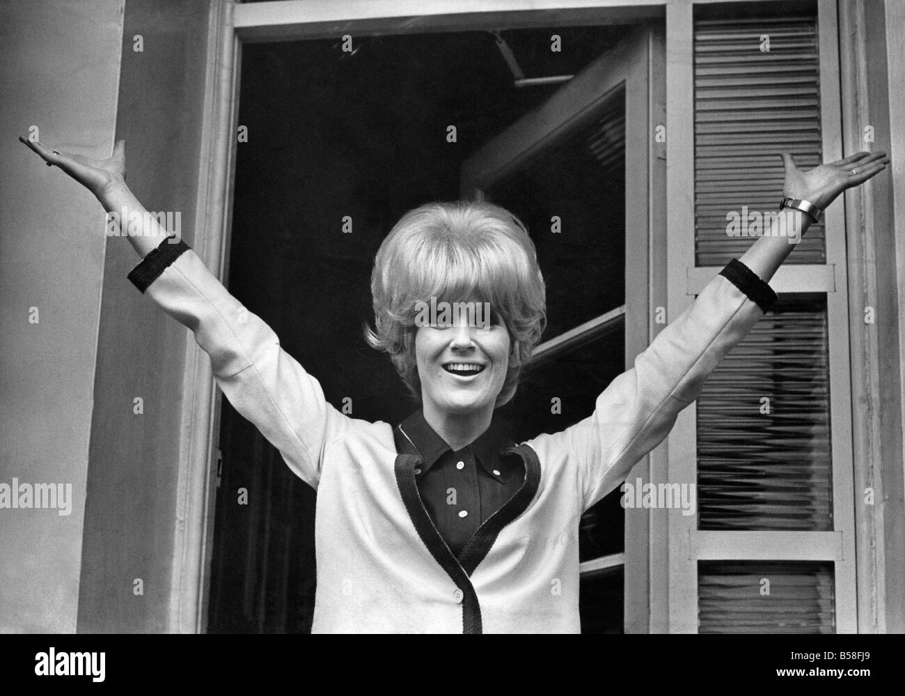 Dusty Springfield gets to the top of the pops with her latest record ðYou don't have to say I love youË - Stock Image