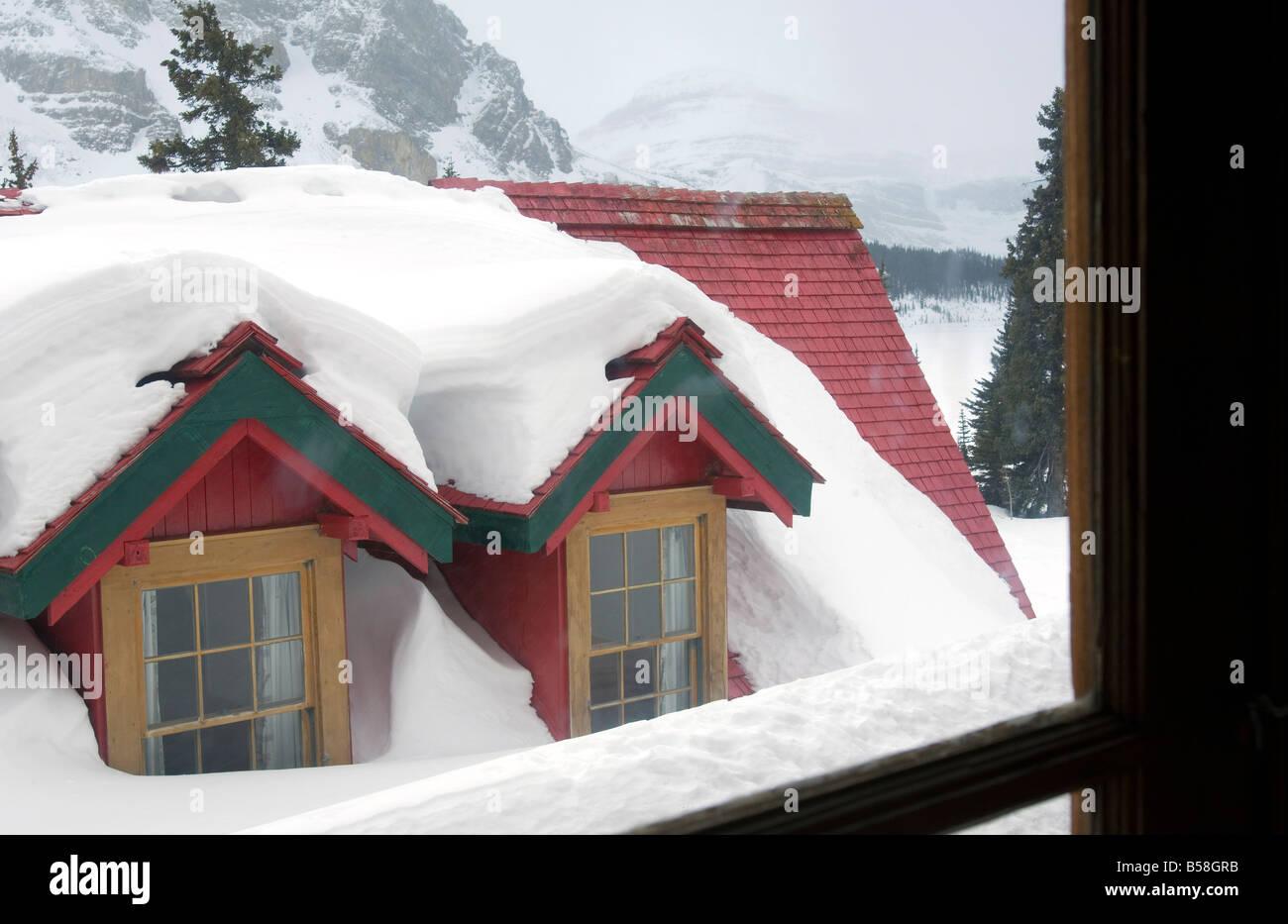 Simpson's Num-Ti-Jah Lodge, Lake Louise, Alberta, Canada, North America - Stock Image
