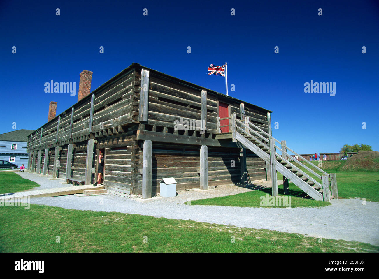 Fort George, a restored British fort dating from 1797, near Niagara-on-the-Lake, Ontario, Canada, North America - Stock Image