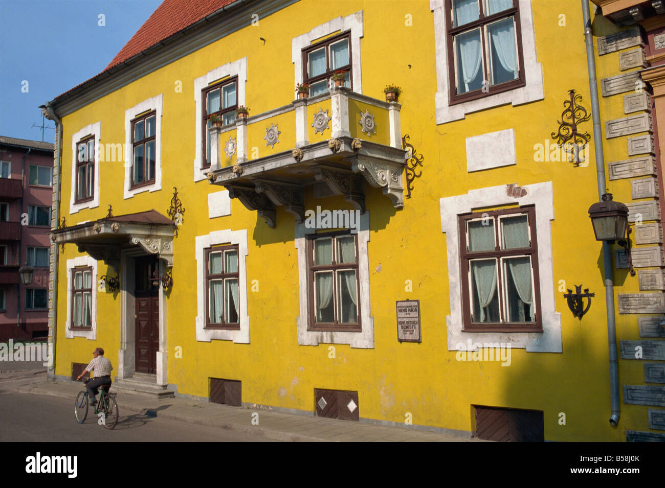 A 17th century house owned by Hans D Schmidt Parnu Estonia Baltic States Europe - Stock Image
