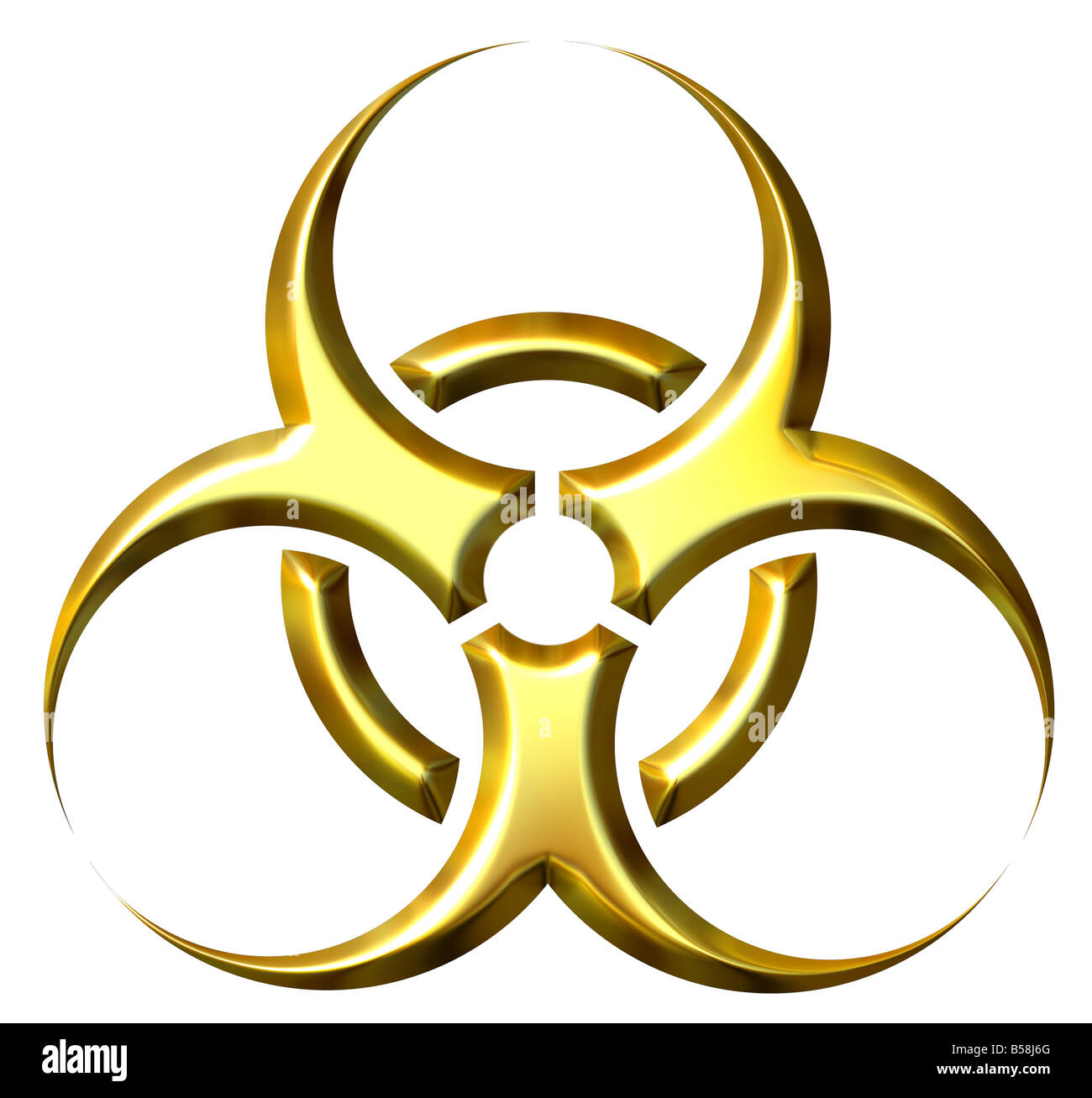 Biohazard Symbol Sign Biological Threat Cut Out Stock Images