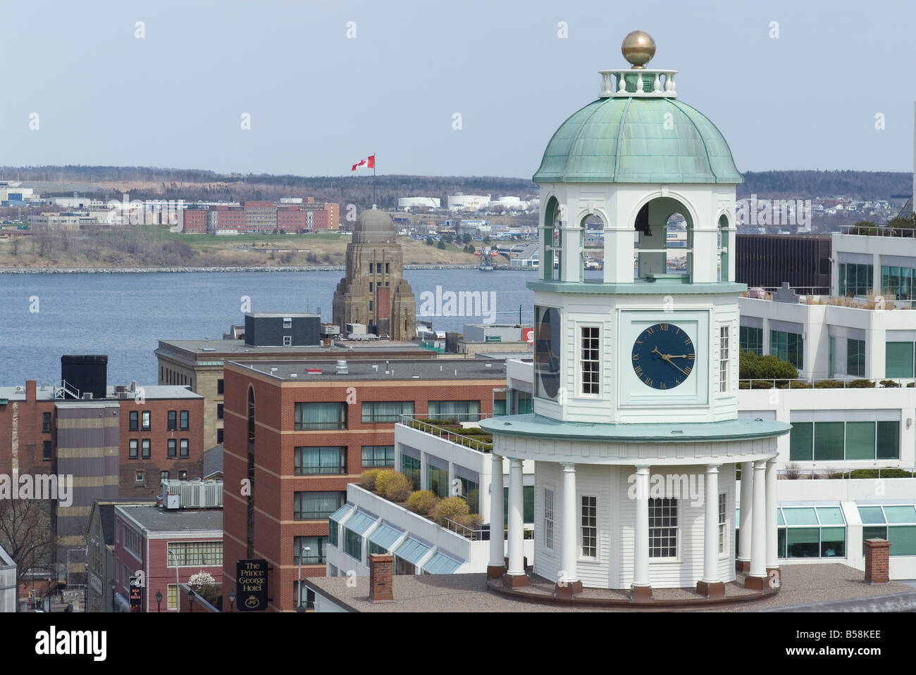 19th century clock tower, one of the city's landmarks, Halifax, Nova Scotia, Canada, North America - Stock Image