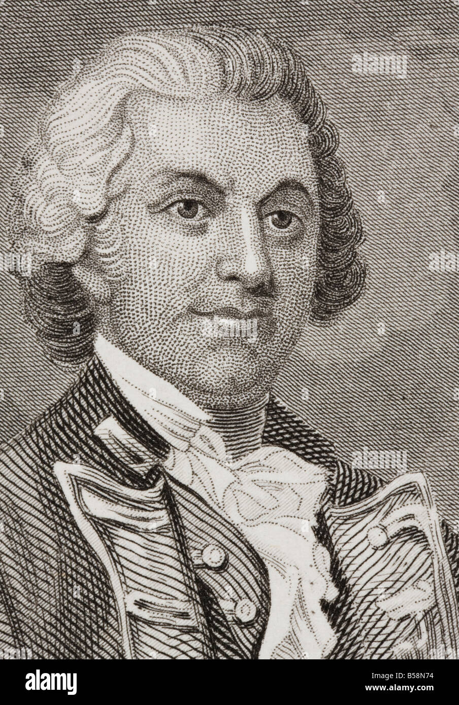 Silas Talbot 1751 1813 American officer in the Continental Army and Continental Navy - Stock Image