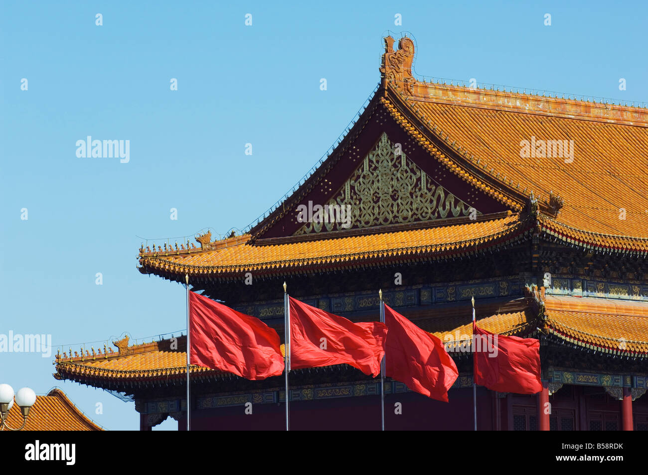Gate of Heavenly Peace at the Forbidden City Palace Museum, Beijing, China - Stock Image