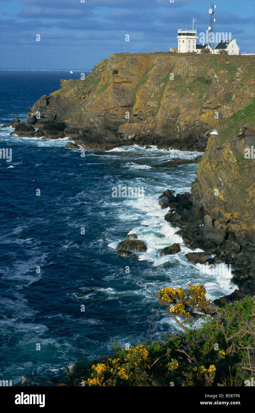 Beg Melen, Ile de Groix, Brittany, France, Europe - Stock Image