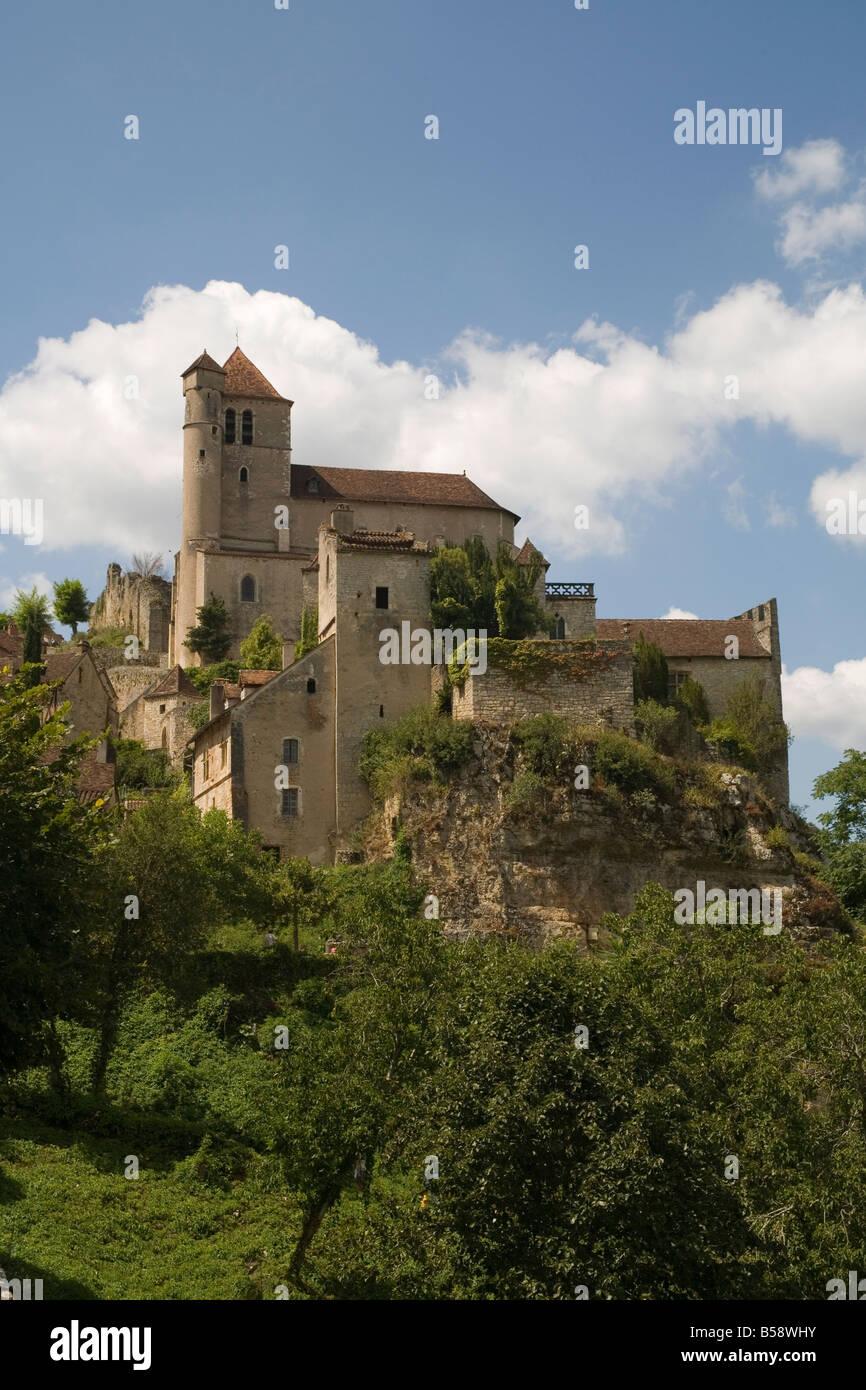St Cirq Lapopie Lot France Europe - Stock Image
