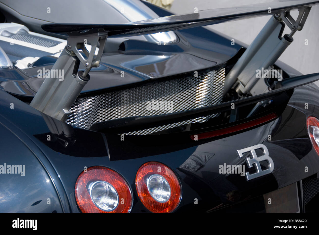 Bugatti Veyron Rear End. This Is The Back Of A Bugatti Veyron, With Its
