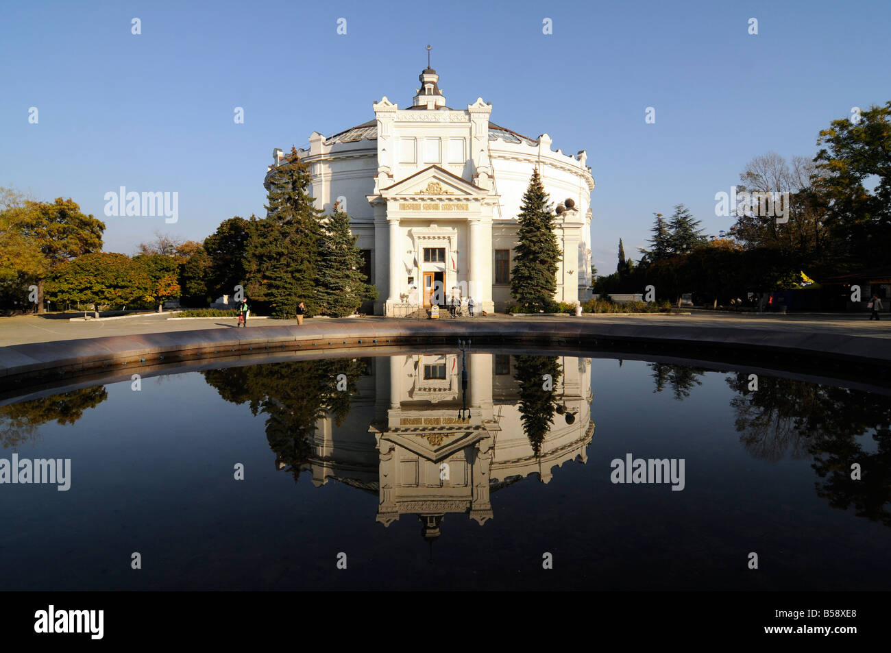The 'panorama' building in Sebastopol, Ukraine. This building host a large museum dedicated to the XIX century - Stock Image