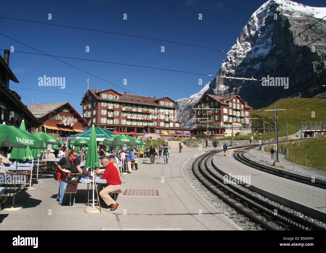 Kleine Scheidegg - Stock Image