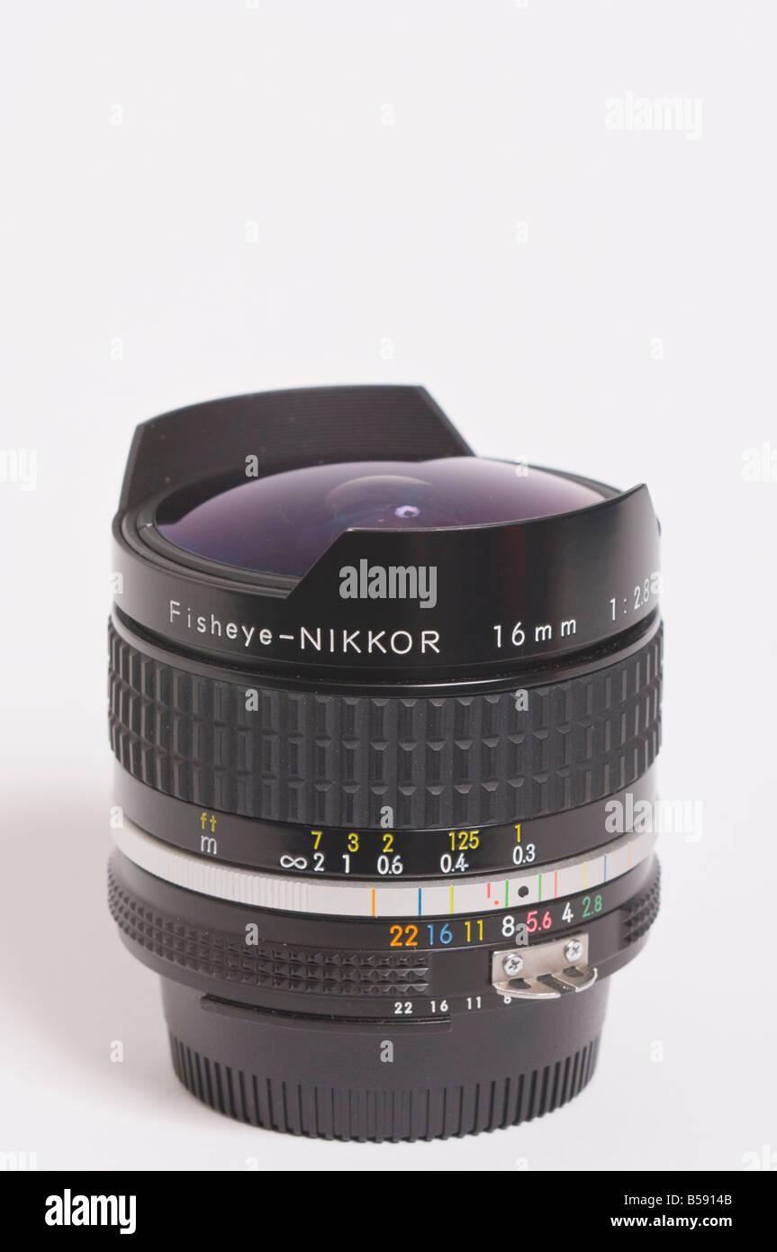 A Nikon 16mm f2.8 ais Nikkor full frame fisheye extreme wide angle ...