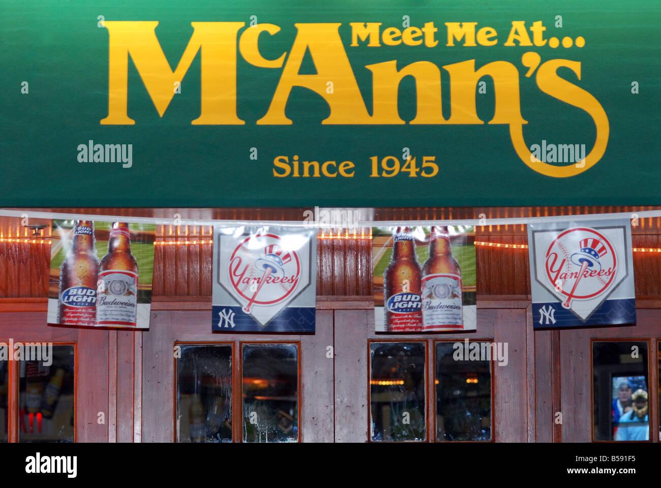 Meet Me at McAnn's Stock Photo