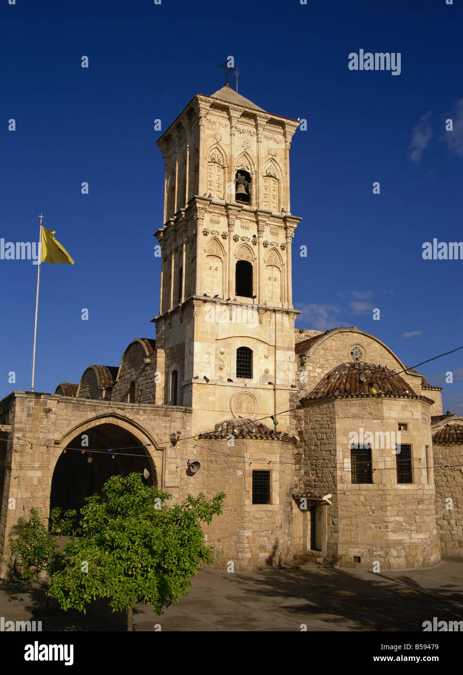 The 9th century church of St. Lazarus, a place of pilgrimage which contains the tomb of Lazarus, Larnaca, Cyprus, - Stock Image