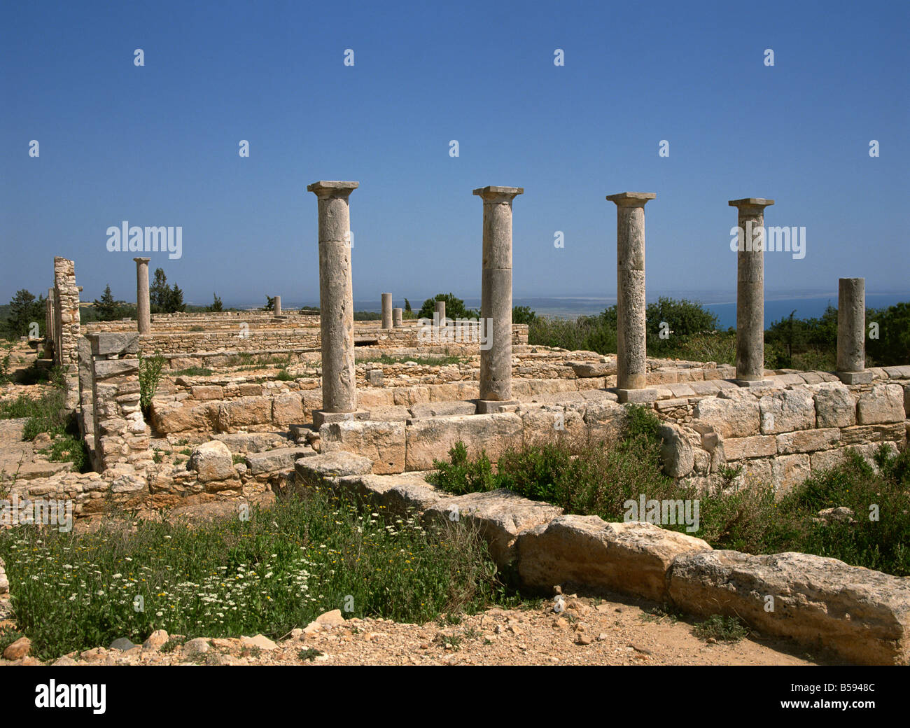 Ruins of the temple of Apollo-Hylates (God of Woodland), Cyprus, Europe - Stock Image