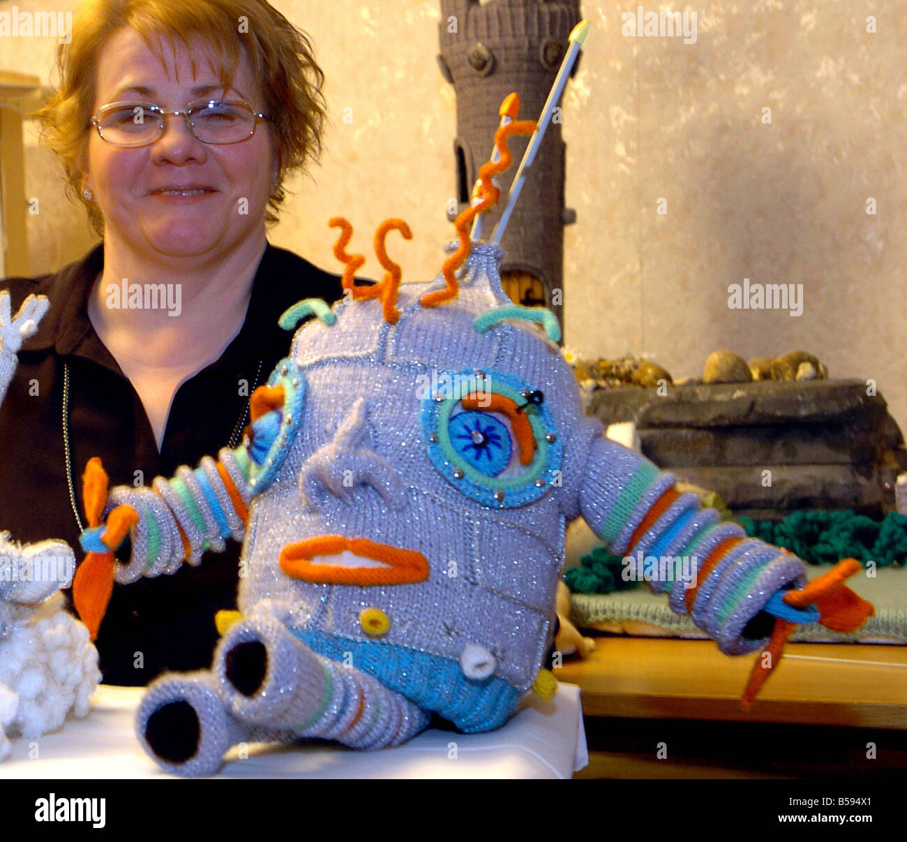 Susan Docherty childrens book author 2004 the woman behind the world s first knitted books The Sweaterheads books - Stock Image