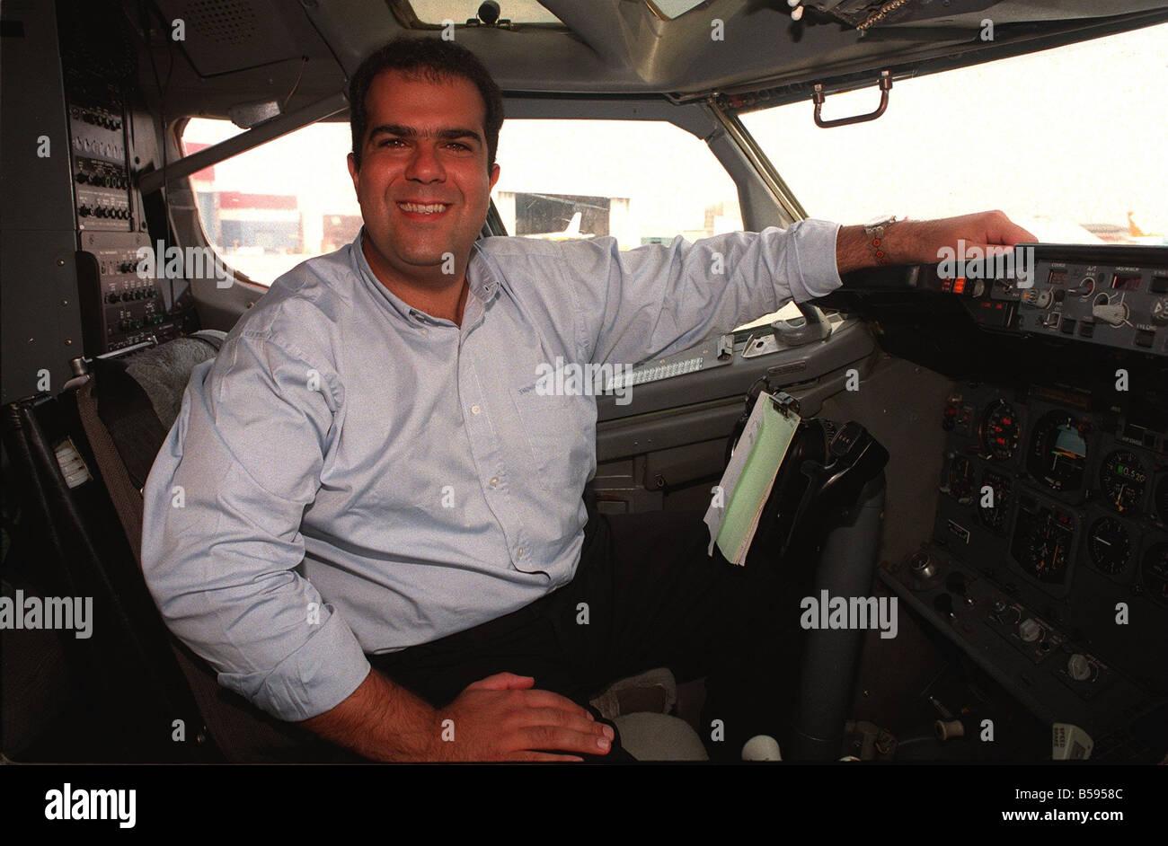 Stelios Haji Ioannou easyJet airline owner 1997 Mirror Promotions easyJet flight offer - Stock Image