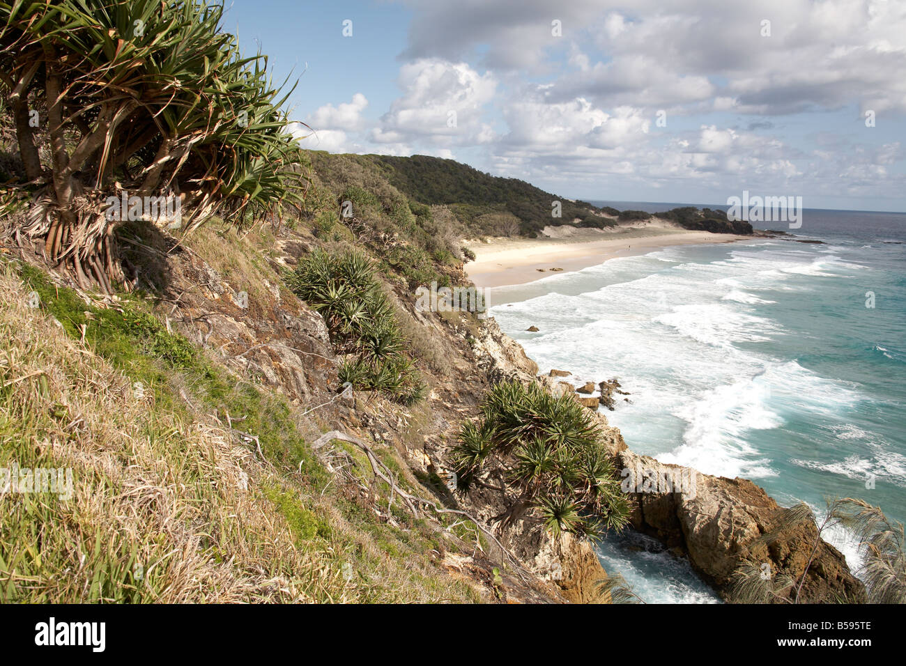 Frenchmans Bay and sea from Gorge Walk North Stradbroke Island Queensland QLD Australia - Stock Image