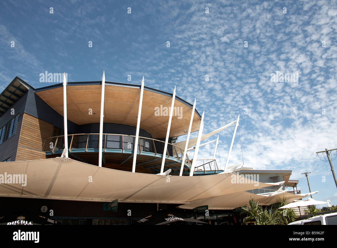 Cafe and restaurant building on North Stradbroke Island Queensland QLD Australia - Stock Image