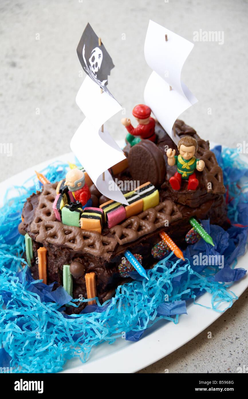 Birthday Cake In Shape Of Pirate Ship In Brisbane Queensland Qld